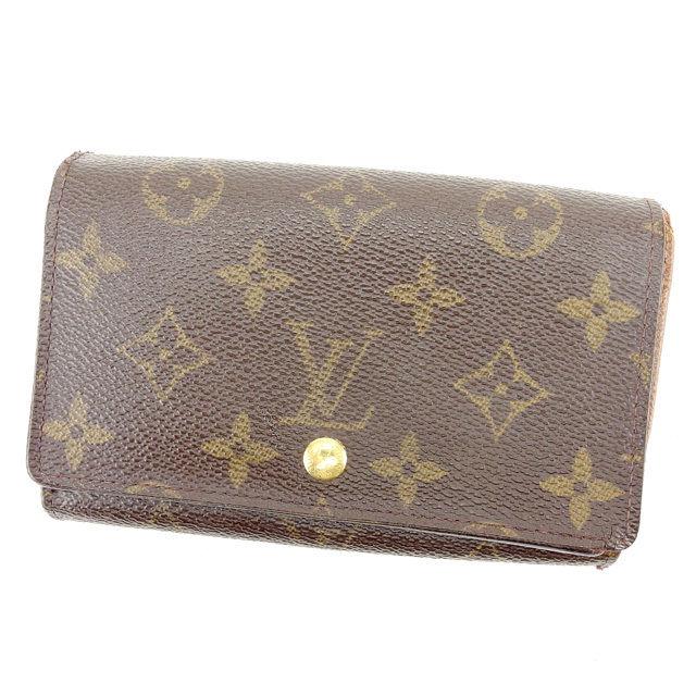 【中古】 ルイ ヴィトン Louis Vuitton L字ファスナー財布 財布 二つ折り財布 財布 ブラウン ポルトモネビエトレゾール モノグラム メンズ可 I423s .