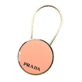 【中古】 プラダ PRADA キーホルダー キーリング レディース シルバー×ピンク シルバー金具 L1053