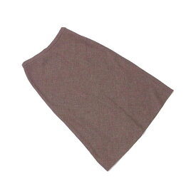 【中古】 ロエベ LOEWE スカート ロング レディース ♯40サイズ フレアー ブラウン系 W/97%ET/3% (あす楽対応)美品 L588 .