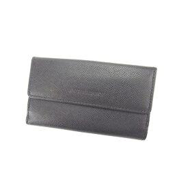 【中古】 バーバリー BURBERRY キーケース コインケース 5連 レディース ブラック×シルバー L877