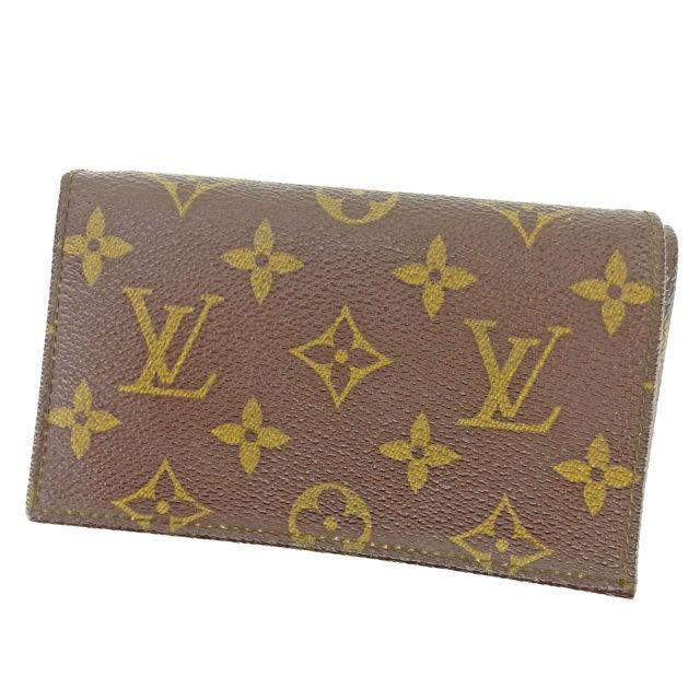 【中古】 ルイ ヴィトン Louis Vuitton L字ファスナー財布 二つ折り財布 メンズ可 ヴィンテージ モノグラム ブラウン モノグラムキャンバス 人気 良品 L1456 .