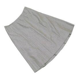 【中古】 ルイ ヴィトン Louis Vuitton スカート 後タック入り レディース ♯36サイズ カーキ系 コットン60%麻40% L1606 .