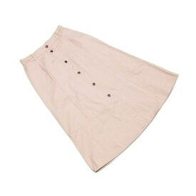 【中古】 マックスマーラ MaxMara スカート フレアー レディース ウィークエンドライン センターボタン ベージュ C/100% 超 美品 L2164 .