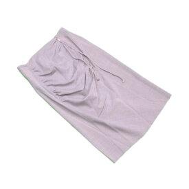 【中古】 ルイ ヴィトン Louis Vuitton スカート 後リボン付き レディース ♯38サイズ グレー×シルバー ウール 69%レーヨン 20%ポリアミド 6%アルパカ 3%ポリウレタン 2% L2175 .