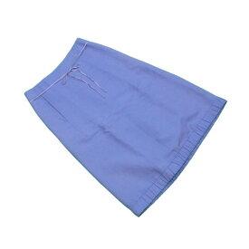 【中古】 マークジェイコブス MARC JACOBS スカート レディース ♯2サイズ フレアー ブルー 綿100%(裏地)絹 良品 L2182 .