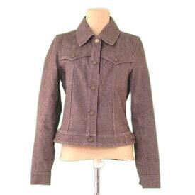 【中古】 セリーヌ Celine ジャケット カラーデニム ブラウン×ゴールド ♯38サイズ Gジャン レディース L2247s .