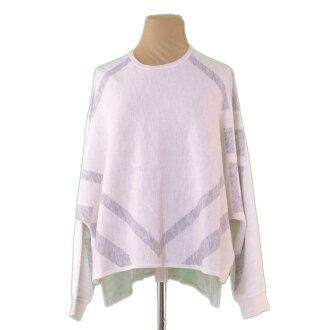 Ante prima ballerina ANTEPRIMA knit sweater Lady's ♯ 38 size dolman sleeve gray system cashmere /100 % quality goods sale L2306.