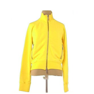 Dis kelp grouper ard DSQUARED2 sweat shirt long sleeves Lady's ♯ small size single ZIP yellow X silver C/100% popularity sale L2325.