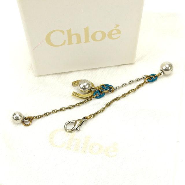 【中古】 クロエ Chloe ブレスレット アクセサリー ゴールド×ブルー×シルバー (あす楽対応)人気 激安 M1313