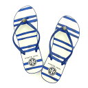 bbfc3a7c1cf92 Article O166 the latest 90008652 blue X white PVC X rubber (correspondence)  new article-free for avian Birch Tory Burch beach sandal   7 lady s 2