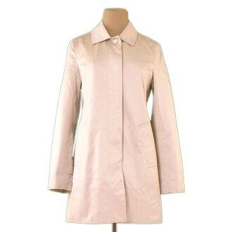 Coach COACH coat single long lady's ♯ XS size convertible collar beige C/100 % (lining) PE/56 % C/44 % quality goods P703.
