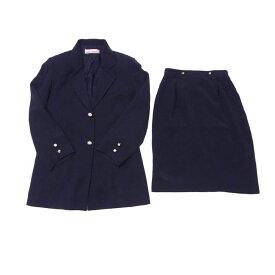 【終了間近】 【20%オフ】 【中古】 ミス クロエ miss chloe スーツ タイトスカート セットアップ レディース ♯40サイズ テーラージャケット ネイビー×ゴールド Q032