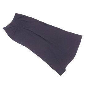 【中古】 ディオール Dior スカート シャーリング 前スリット レディース ♯USA6サイズ ロング ブラック レーヨン54%アセテート46% 人気 T1754 .