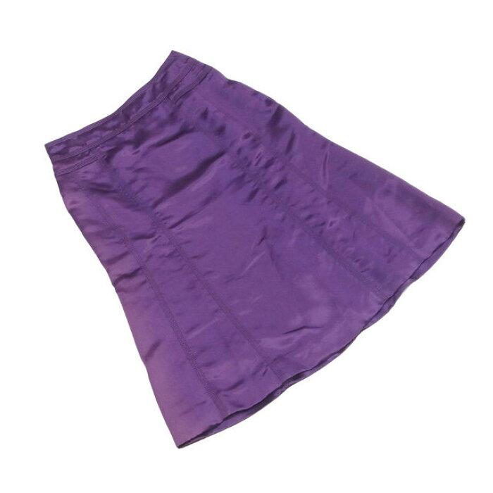 【中古】 ルイ ヴィトン Louis Vuitton スカート ステッチ入り レディース ♯34サイズ パープル アセテート74%シルク26%(裏地)シルク100% T2014