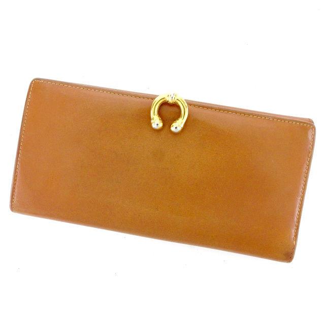 【中古】 グッチ Gucci 長財布 財布 財布 財布 Wホック財布 財布 キャメル×ゴールド ホースシュー レディース メンズ 可 T2045s