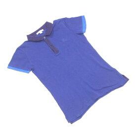 【中古】 バーバリー チルドレン ポロシャツ 半袖 Burberry ブルー×パープル T2210s .