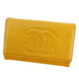 016d5f0235d7 【中古】 シャネル Chanel キーケース 6連キーケース キャメル×ゴールド ココマーク
