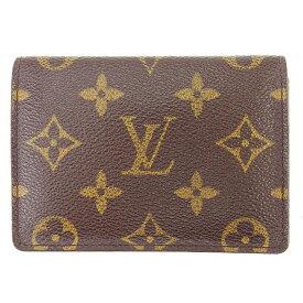 【中古】 ルイ ヴィトン Louis Vuitton 定期入れ パスケース ブラウン ポルト2カルトヴェルティカル モノグラム メンズ可 T882s .