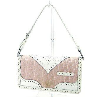 Dior Dior handobaggubagguredisutorottapinku×白帆布×皮革美品促銷T2910