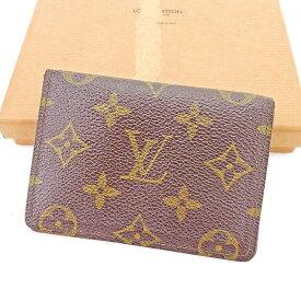 【中古】 ルイ ヴィトン Louis Vuitton 定期入れ パスケース ブラウン ポルト2カルトヴェルティカル モノグラム メンズ可 T2924s .