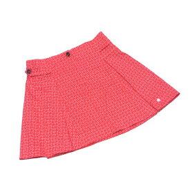 【中古】 ディオール Dior スカート フレアー レディース ガールズ ♯10サイズ レッド×ホワイト コットン97%ポリウレタン3%(裏地)コットン100% T2983
