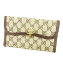 861e36655e0 ... X brown X gold PVC X leather vintage quality goods T3554 with the men s  possible double G mark lady s for three Gucci GUCCI long wallet wallets fold .