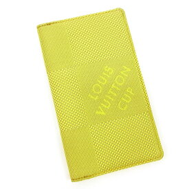 【中古】 ルイヴィトン 手帳カバー Louis Vuitton グリーン×ベージュ T3644s