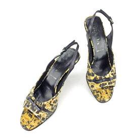 13389167dd59 【中古】 プラダ PRADA サンダル シューズ 靴 レディース ♯37 スリングバック リボン ベージュ×
