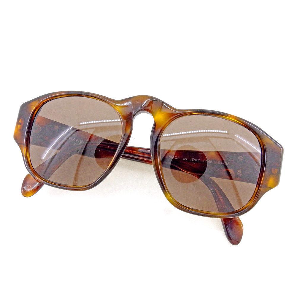 【中古】 シャネル サングラス メガネ アイウェア Chanel ベージュ×ブラウン×ゴールド T4505s