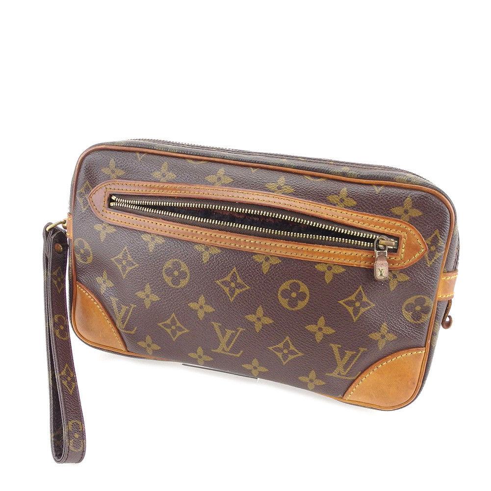 【中古】 ルイ ヴィトン クラッチバッグ セカンドバッグ Louis Vuitton ブラウン T4994s