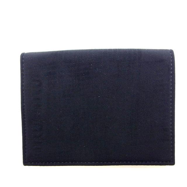【中古】 ミュウミュウ Miu Miu 二つ折り財布 財布 ブラック レディース Y119s
