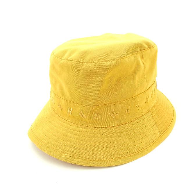 【中古】 エルメス Herm?s 帽子 ハット オレンジ レディース Y1429s