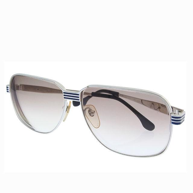 【中古】 イヴサンローラン YVES SAINT LAURENT サングラス メガネ メンズ パイロット型 度入り 近視用 31-910 2 クリアベージュ×シルバー系 プラスティック×シルバー金具 (あす楽対応)激安 Y2634 .