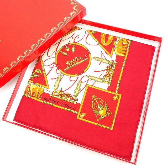 【中古】 カルティエ Cartier スカーフ ファッションアイテム レッド×イエローゴールド系 レディース Y3422s .