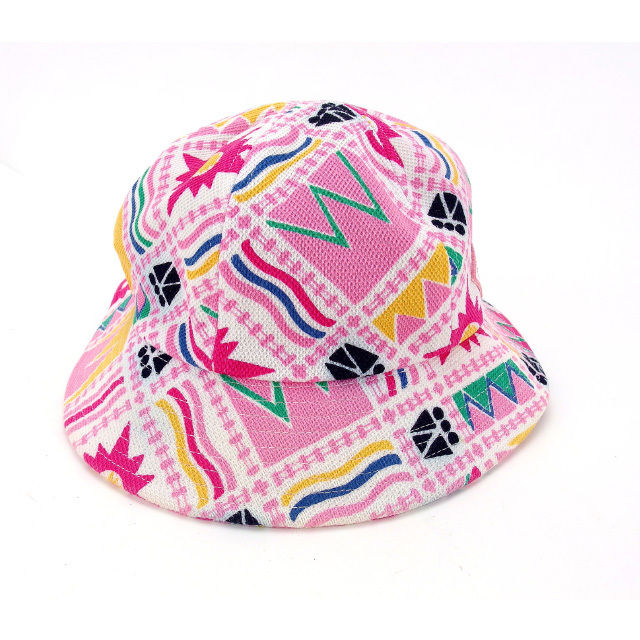 【中古】 バレンシアガ Balenciaga 帽子 ハット ホワイト×ピンク系 ♯Mサイズ ミックス柄 レディース Y4824s