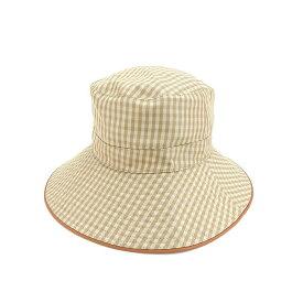 【中古】 エルメス HERMES 帽子 ハット レディース ベージュ×ブラウン 絹 100%(パイピング)絹 100% T15434 .