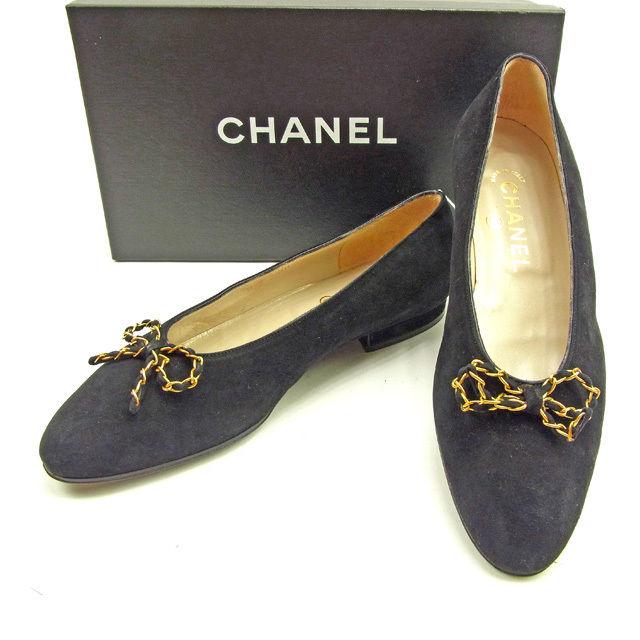 【中古】 シャネル Chanel パンプス #36 1 2 ブラック メンズ可 Y5816s