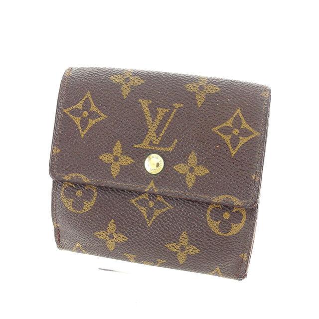 【中古】 ルイ ヴィトン Wホック財布 三つ折り財布 Louis Vuitton ブラウン Y5893s