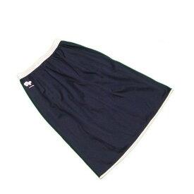 【中古】 レオナール LEONARD スカート フレアー レディース ウエストボーダー フラワー刺繍 ブラック×ピンク系 綿/100%(裏地)キュプラ/100% 良品 L2149 .