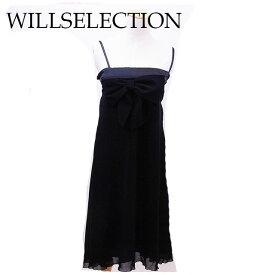 【終了間近】 【20%オフ】 【中古】 ウィルセレクション WILLSELECTION ワンピース リボン レディース ブラック T13670