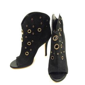 【スーパーセール】 【20%オフ】 【中古】 ジュゼッペザノッティ GIUSEPPE ZANOTTI ブーツ #39 メンズ可 ブラック×ゴールド スエード T1084