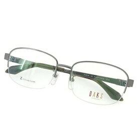 【中古】 ダックス DAKS 眼鏡 メガネ メンズ可 展示品未使用 グレー×シルバー× 中古 T1595 .