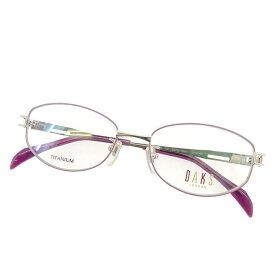 【中古】 ダックス DAKS 眼鏡 メガネ レディース 展示品 ピンク×パープル 未使用 T1596 .