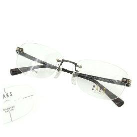 【中古】 ダックス DAKS メガネ 眼鏡 メンズ可 展示品未使用 グレー×ブラウン×シルバー 中古 T1597 .