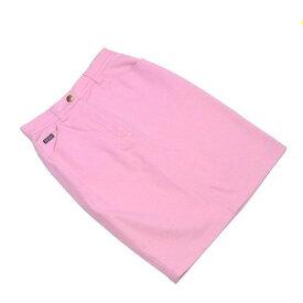 【中古】 エスカーダ ESCADA スカート ロゴボタン レディース ♯34サイズ ピンク×ゴールド コットンC 95%エラスタンEA 5% T2193