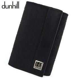 【中古】 ダンヒル キーケース メンズ ディーエイト D8 ブラック シルバー PVC×レザー dunhill T18676