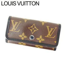 【中古】 ルイヴィトン キーケース 6連キーケース ミュルティクレ6 モノグラムマカサー ブラウン×ブラック モノグラムキャンバス×レザ- Louis Vuitton I148 ブランド