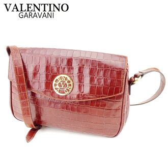73678c0cd07 Valentino Garavani VALENTINO GARAVANI shoulder bag one shoulder Lady's  crocodile type push brown leather popularity sale T8787