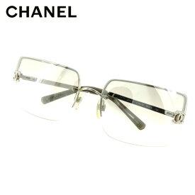 【中古】 シャネル CHANEL サングラス アイウエア レディース メンズ ココマーク グレー 灰色 シルバー 人気 セール H638 .
