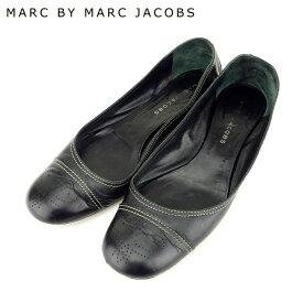 【中古】 マークジェイコブス MARC JACOBS パンプス シューズ 靴 レディース #37 ブラック レザー 人気 セール A1850 .